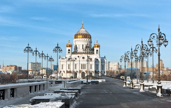 The Cathedral of Christ the Savior Christmas tree in 2021