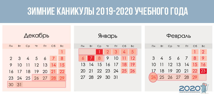 Vacation in first grade in the 2020-2021 year