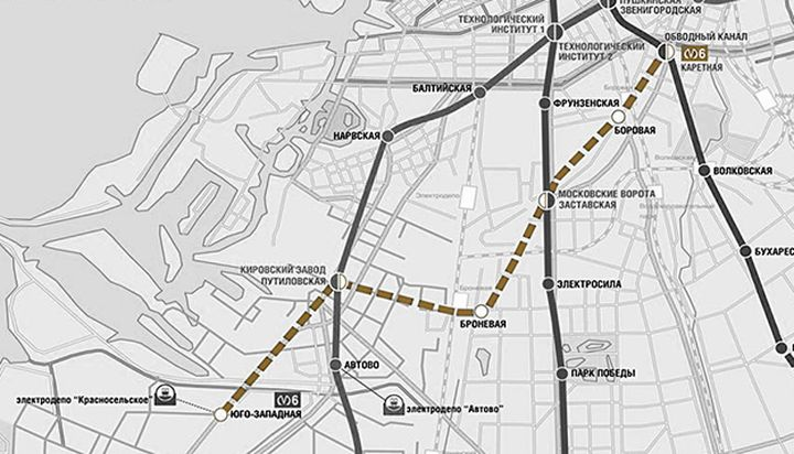 Metro map and in 2021: the new station