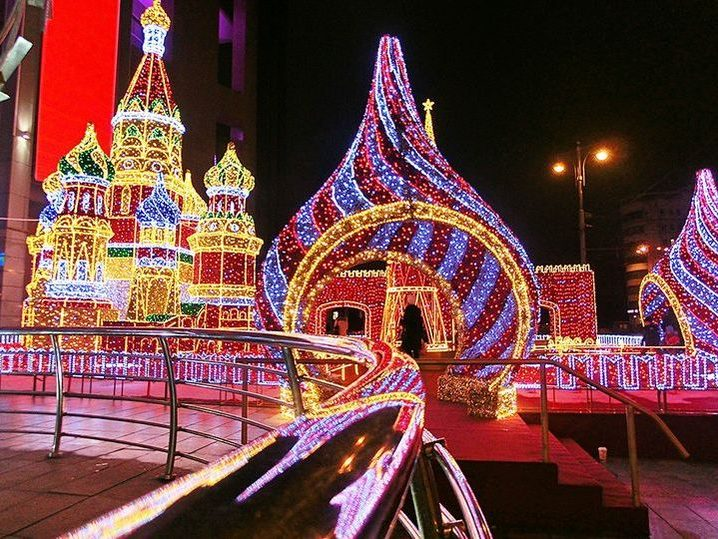 When you decorate Moscow for the New 2021