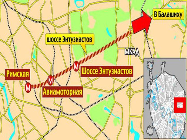 The light metro in the Moscow region in 2021