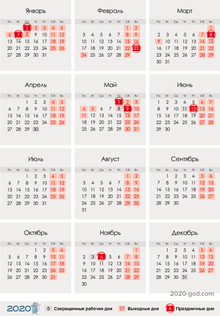 First working day in January 2021: when to go to work