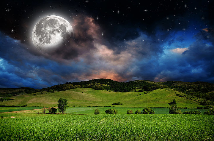 Full moon and new moon in June 2021
