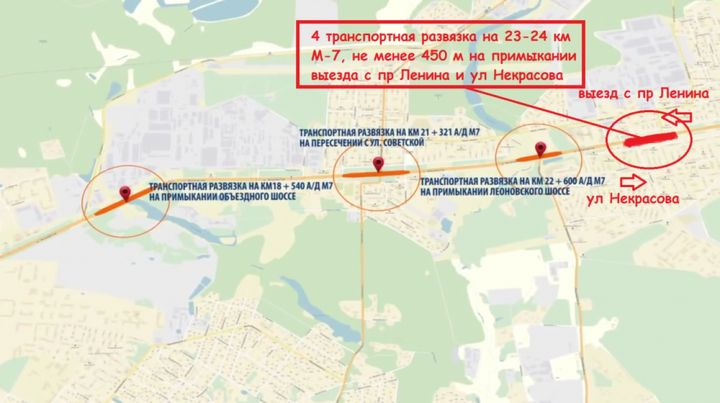 Reconstruction of the Gorky highway in 2018-2021 years