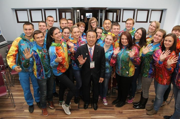 Volunteers for the Olympic games in Tokyo-2021