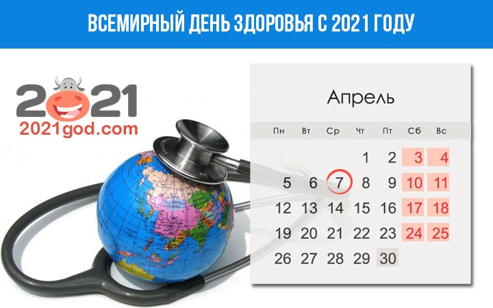 Health day in 2021: what date and date