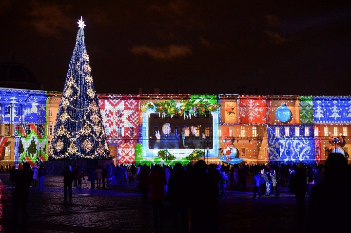 Palace square for the New year 2021 | new year's eve