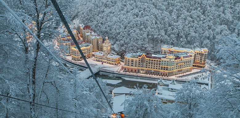 New year 2021 in Rosa Khutor