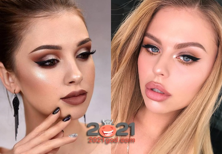 New year's makeup 2021 / photos, for the New year