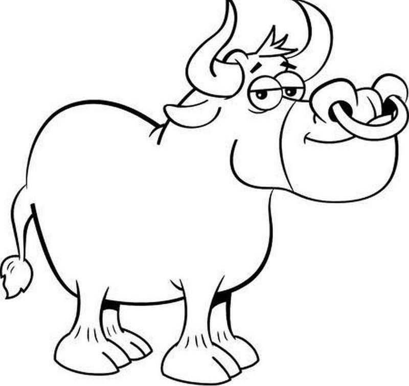 Coloring book for the new 2021 year of the Bull | for kids