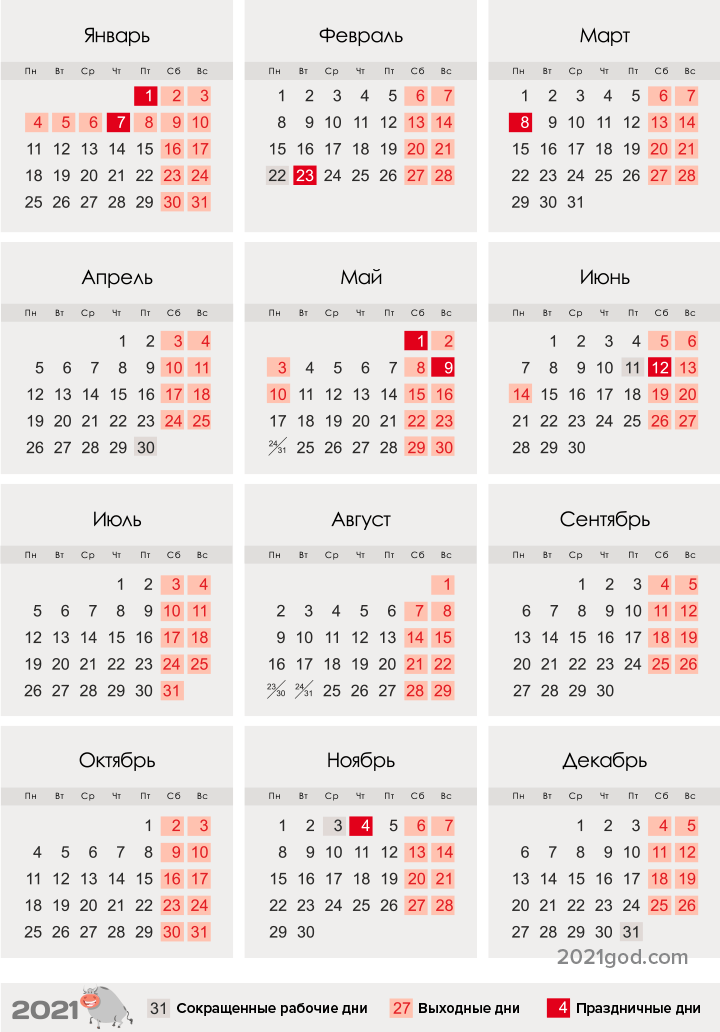 The sheet of accounting of working time for 2021 | calendar