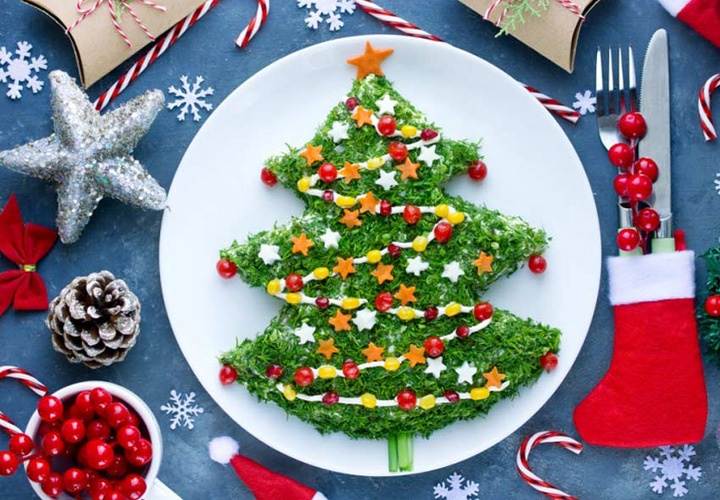 Decoration of salads for the New year 2021 | new year's gifts in the year of the Bull